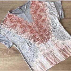 Zara Women's Basic Collection Printed Top